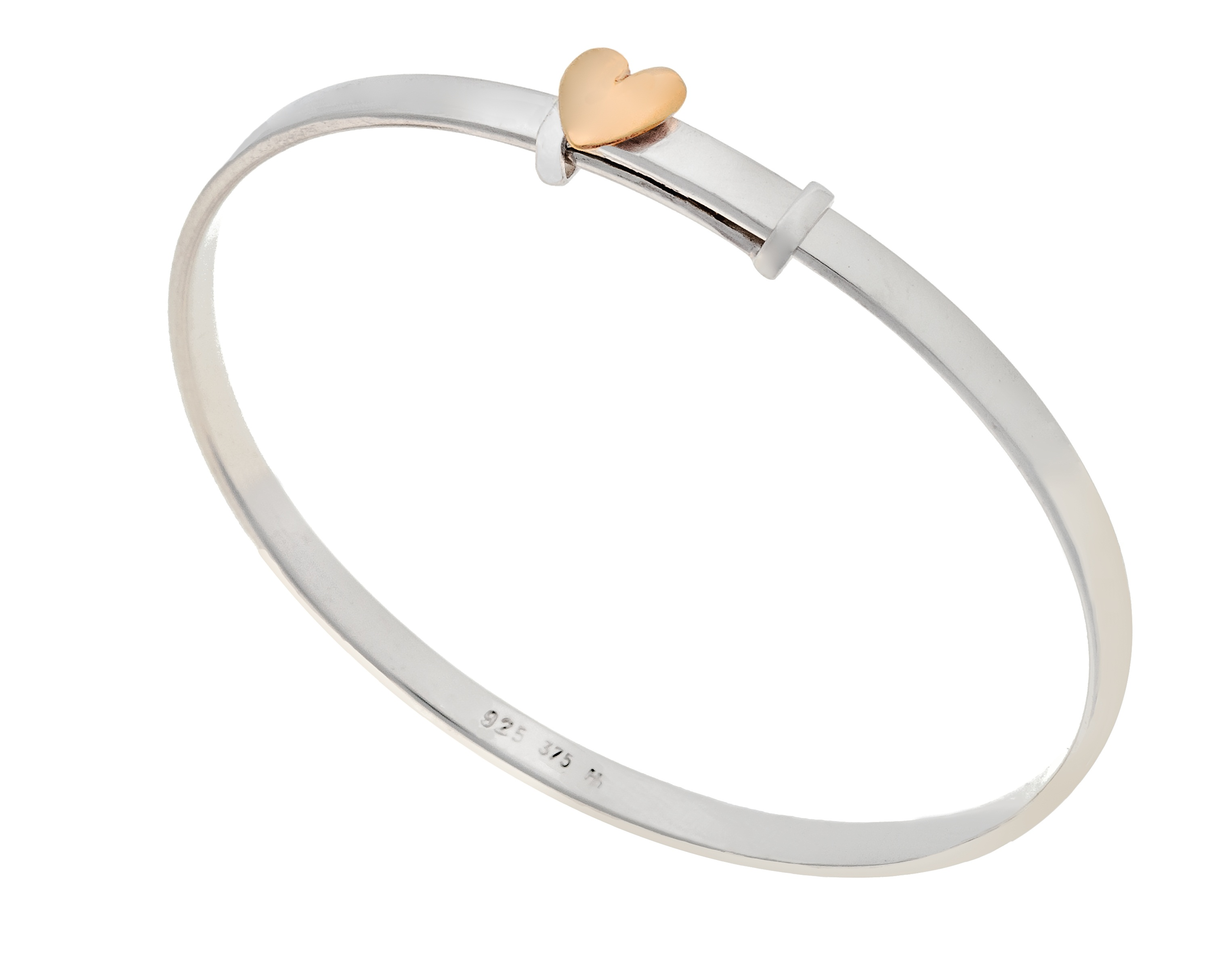 little heart of gold bangle
