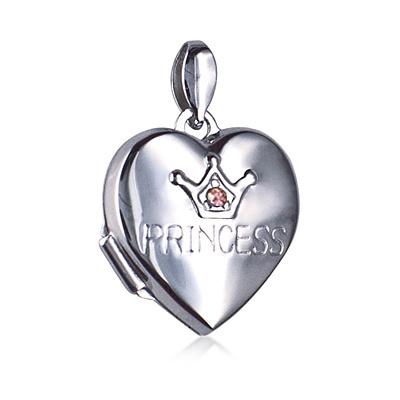 princess heart locket