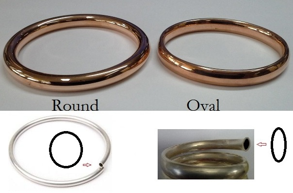 bangles oval or round