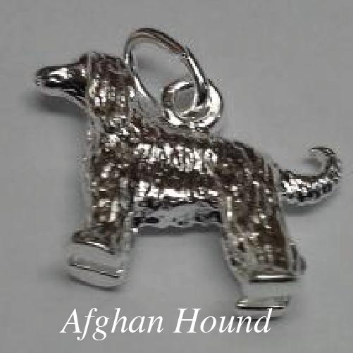 afghan hound charm