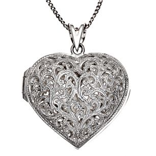Ajour Heart Sterling Silver or 9ct Gold