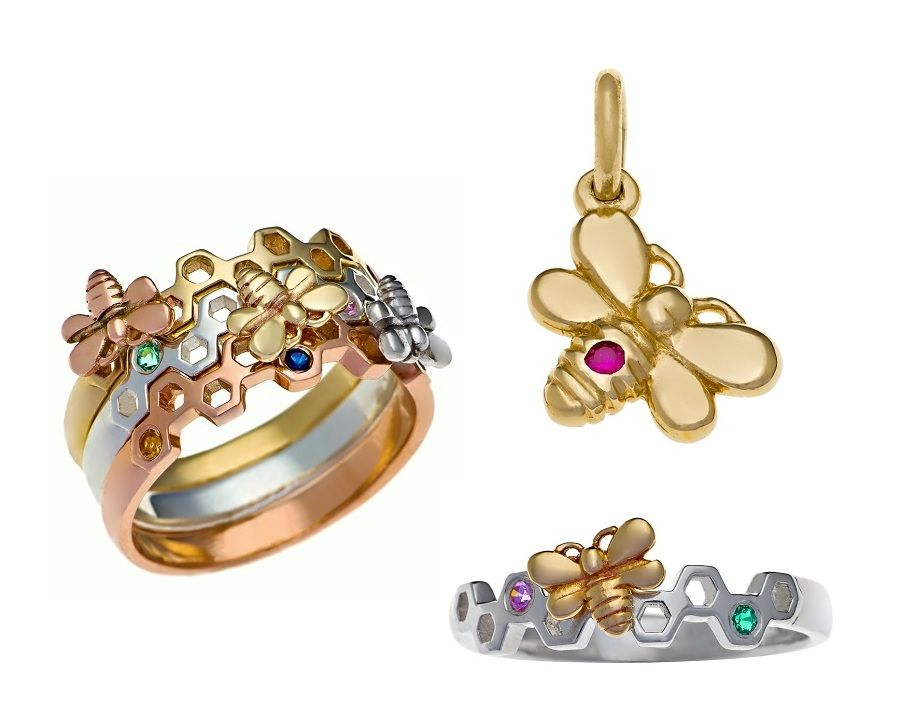 bee jewellery and rings